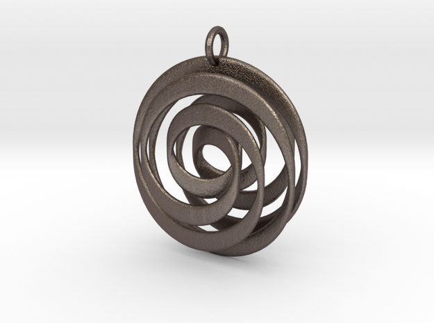Mobius VI in Polished Bronzed Silver Steel