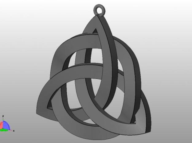 Holy Trinity Necklace 3d printed Angle view