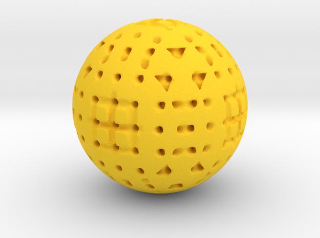 sphere_f in Yellow Processed Versatile Plastic