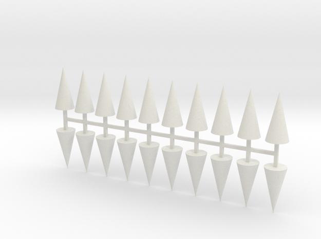 Parkhecke Buchsbaum Kegel 20er Set - 1:120 in White Natural Versatile Plastic