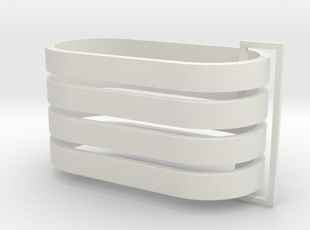 Parkhecke oval (Buchsbaum) 4er Set 1:120 in White Natural Versatile Plastic