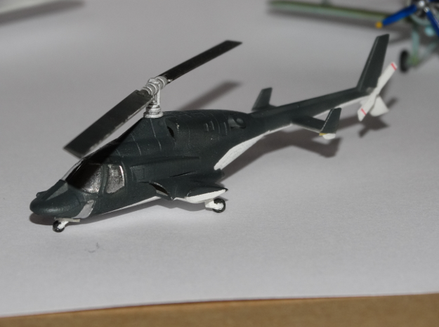 030A Modified Bell 222 1/144 in Smooth Fine Detail Plastic