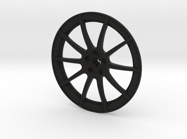 Racing Wheel Cover 12_56mm in Black Natural Versatile Plastic
