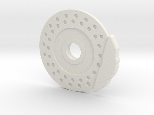 Disc Brake & Caliper for 56mm 6 Pin Wheel in White Natural Versatile Plastic