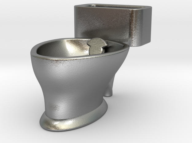"""Loo"" coffee cup in Natural Silver"
