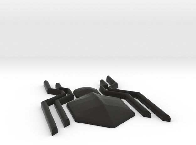 Homecoming Black Chest Spider Symbol for Costume in Black Natural Versatile Plastic: Small