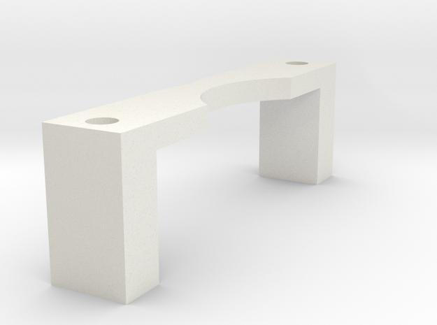 DJI Zenmuse H3-3D - Xiaomi Yi adapter (clamp) in White Natural Versatile Plastic