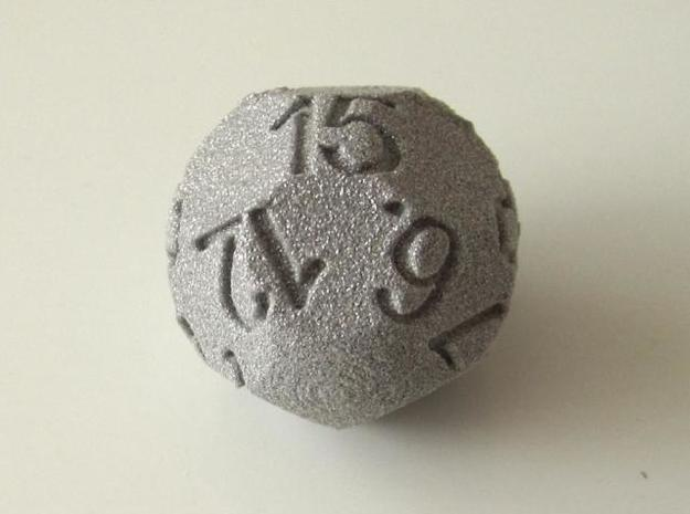 D15 Sphere Dice 3d printed In Alumide