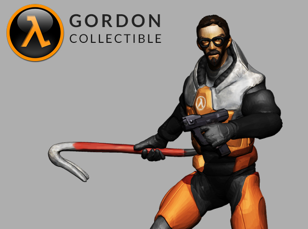 Gordon Freeman Desktop Collectible in Full Color Sandstone