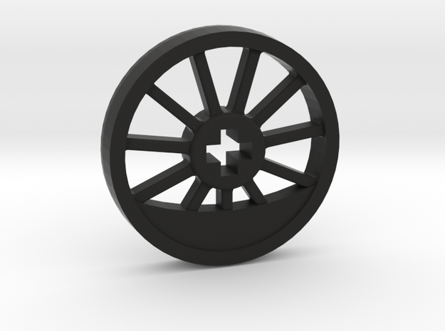 Medium Blind Thin Wheel in Black Strong & Flexible