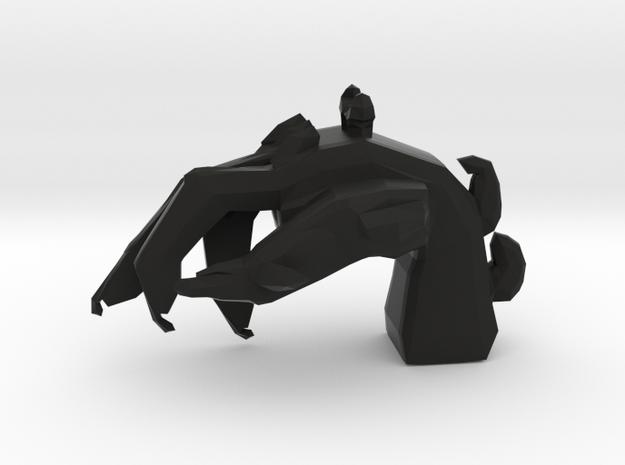 Imp's hand pendant in Black Natural Versatile Plastic