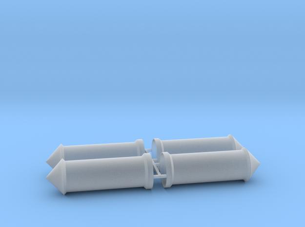 Litfaßsäule 4er Set 1:72 in Smooth Fine Detail Plastic