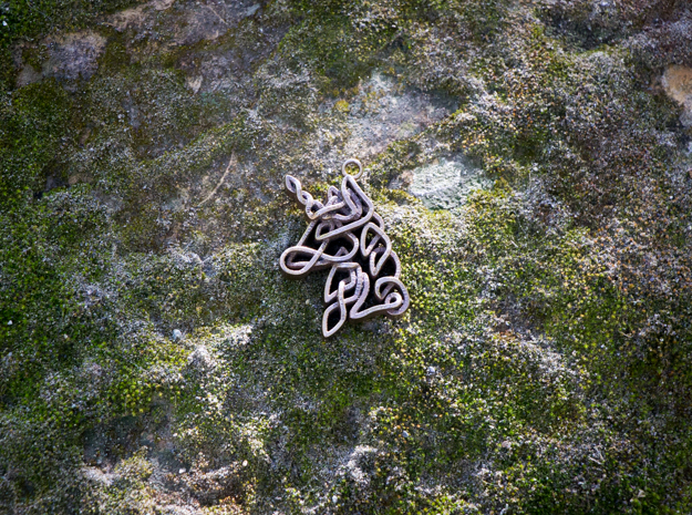 Celtic Unicorn Head Pendant