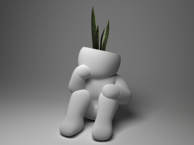 Architect planter in White Strong & Flexible
