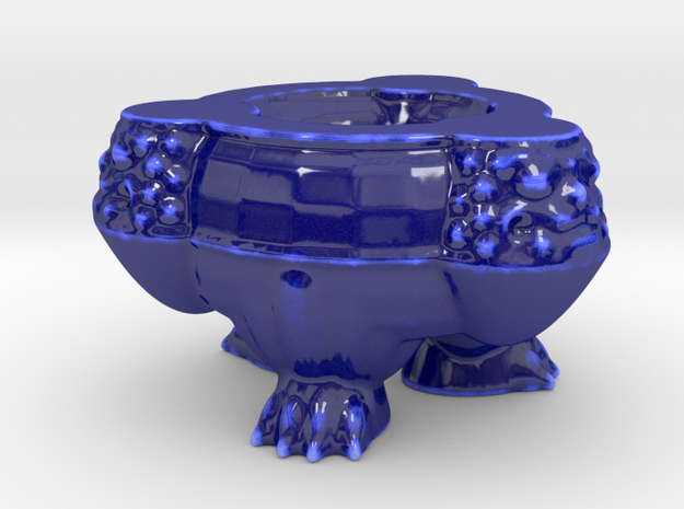 Shisa Tripod in Gloss Cobalt Blue Porcelain