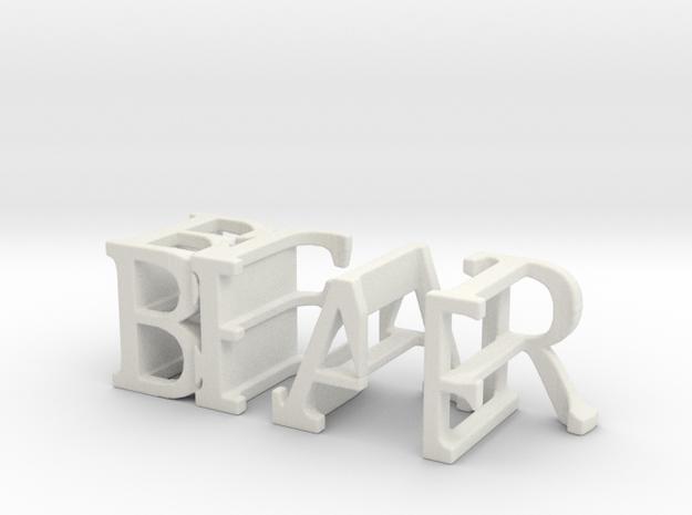 3dWordFlip: BEAR/BULL in White Natural Versatile Plastic