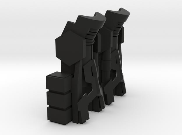 Titan Emperor's New Boots in Black Natural Versatile Plastic