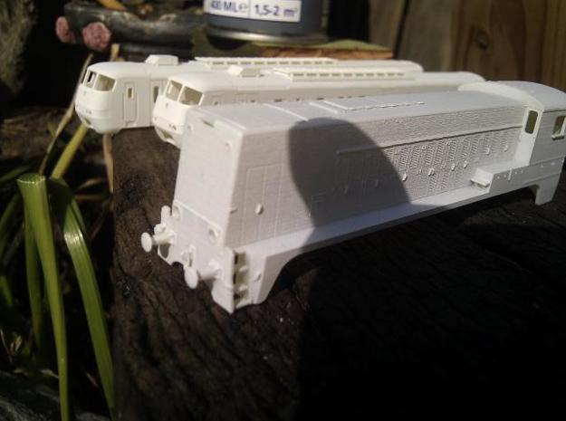 NS 2200 (1:120) 3d printed Model with 1 coat of Primer! No sanding applied