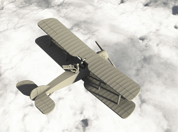 Bristol F.2B Fighter (Twin Lewis) in White Natural Versatile Plastic: 1:144
