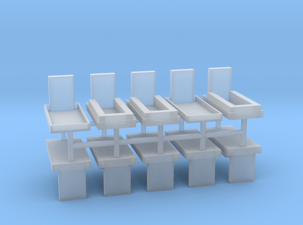 Gräber Set2 10erSet - 1:87 H0 in Smooth Fine Detail Plastic