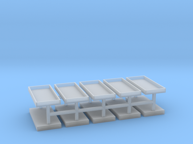Gräber Set3 Grabeinfassungen 10er Set - 1:76 in Smooth Fine Detail Plastic