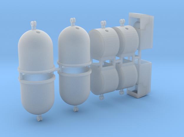 Wertstoffcontainerset 10er 1:100 in Smooth Fine Detail Plastic