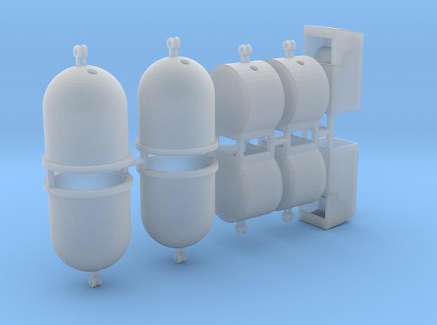 Wertstoffcontainerset 10er 1:72 in Smooth Fine Detail Plastic