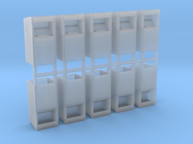 Altkleidercontainer 10er Set 1:87 H0 in Smooth Fine Detail Plastic