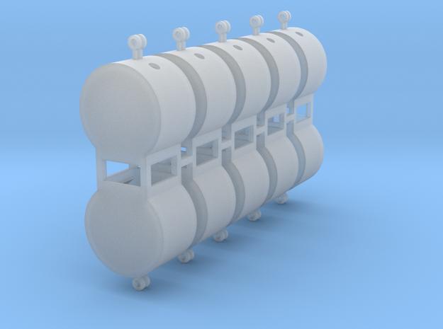 Altglascontainer Trommel 10erSet 1:120 TT in Smooth Fine Detail Plastic