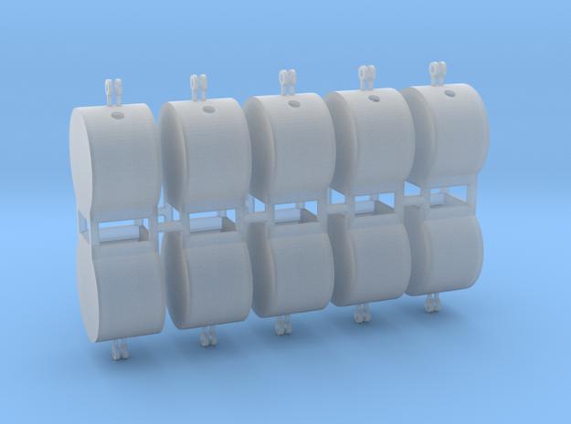 Altglascontainer Trommel 10erSet 1:100 in Smooth Fine Detail Plastic