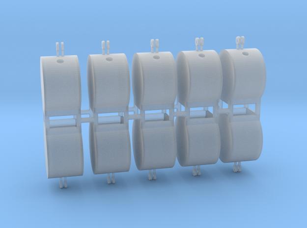 Altglascontainer Trommel 10erSet 1:76 in Smooth Fine Detail Plastic