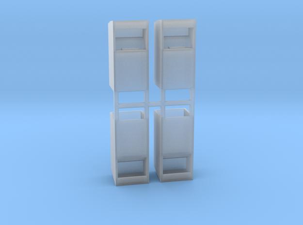 Altkleidercontainer 4er Set 1:76 in Smooth Fine Detail Plastic