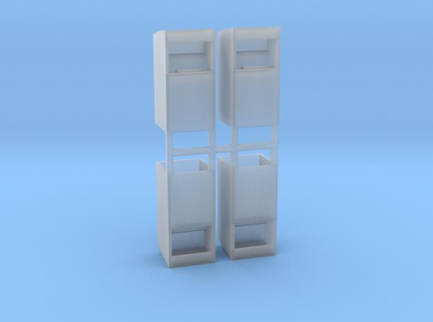 Altkleidercontainer 4er Set 1:72 in Smooth Fine Detail Plastic