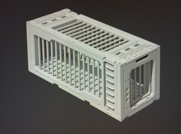 TT Saur Cage Container in Smooth Fine Detail Plastic