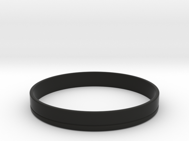 Bass Drum Hoop in Black Natural Versatile Plastic