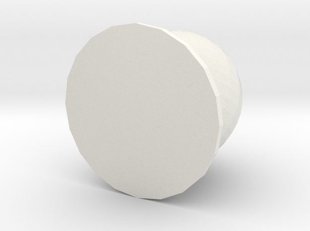 8 Ball Piece in White Natural Versatile Plastic