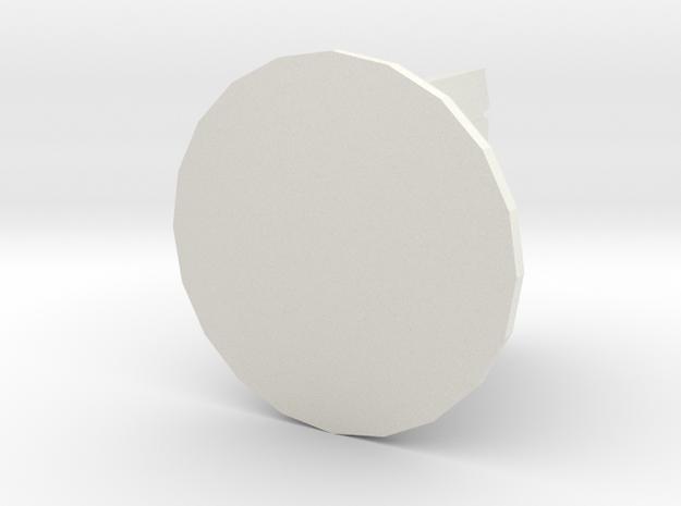 Floppy Disk Piece in White Natural Versatile Plastic