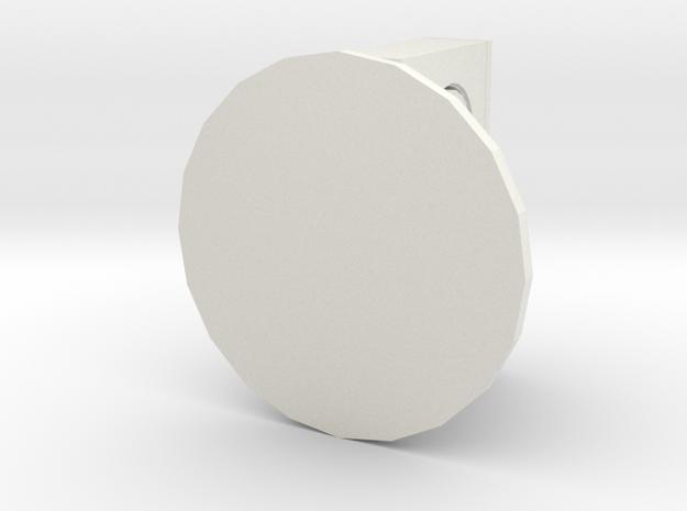 Video Tape Piece in White Natural Versatile Plastic