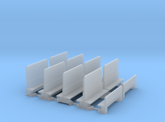 L&Y Coaches Seats Brake 3rd  in Smooth Fine Detail Plastic