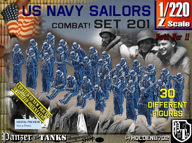 1/220 USN Combat set 201 in Frosted Extreme Detail