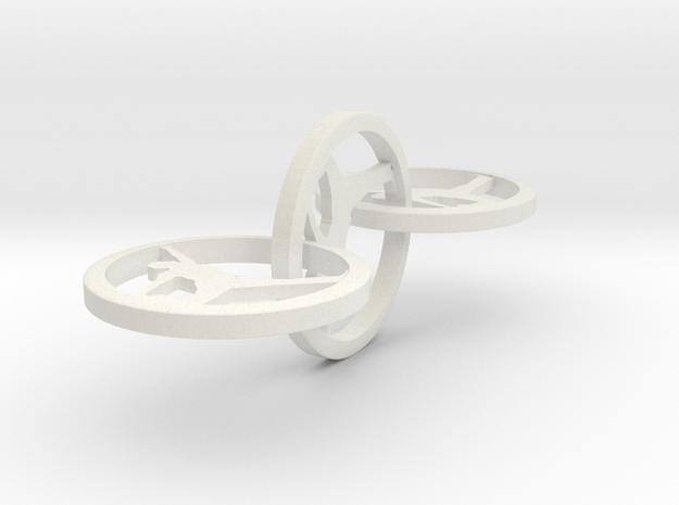 Yoga Jewelry 3 hoop earring   in White Natural Versatile Plastic