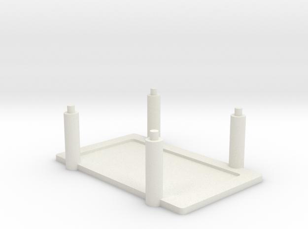 Arduino Mega Rack in White Natural Versatile Plastic