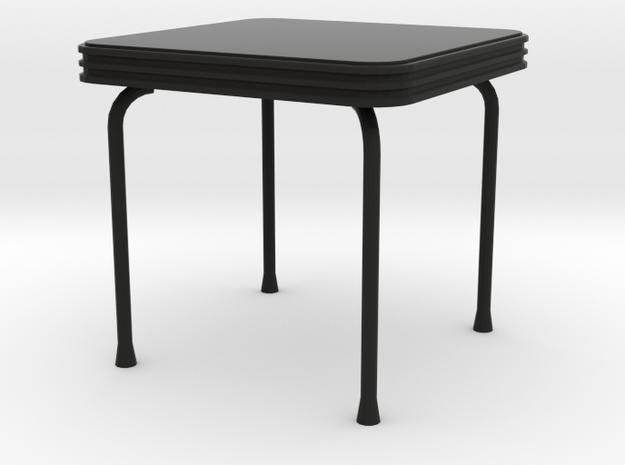 'Cheapskate' Table 1:12 Dollhouse in Black Strong & Flexible