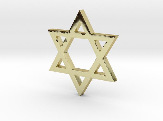 Jewish Star (Hexagram) in 18k Gold