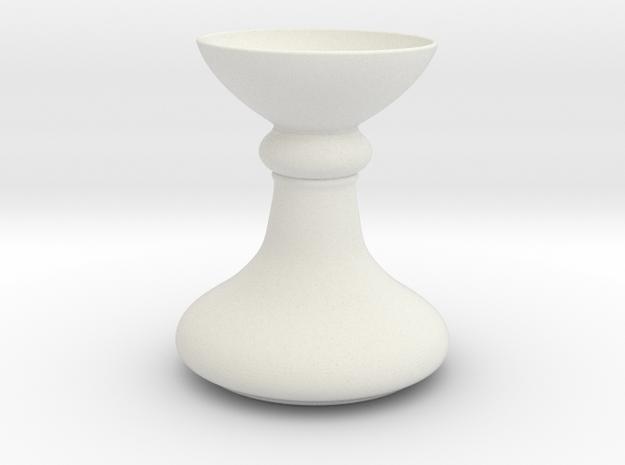 Base or Vase in White Natural Versatile Plastic: 1:20