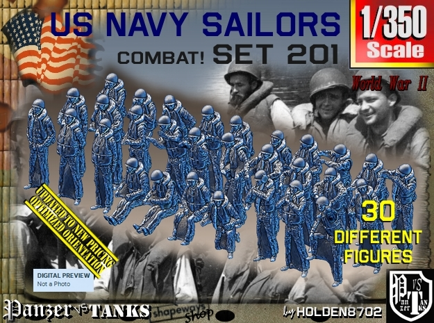 1/350 USN Combat set 201 in Frosted Extreme Detail