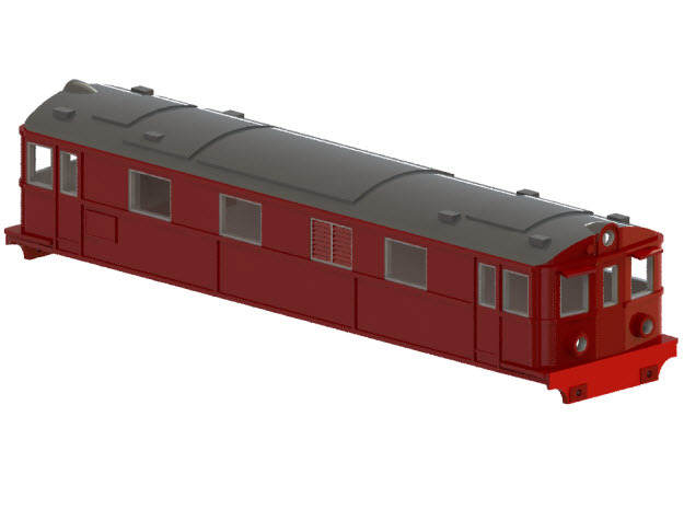 Swedish SJ electric locomotive type Dg2 - N-scale in Frosted Ultra Detail