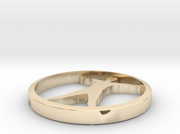 Yoga jewelry in 14k Gold Plated Brass