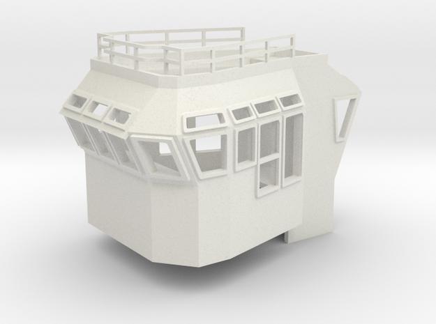 Bridge Superstructure 1/75 fits Harbor Tug  in White Natural Versatile Plastic