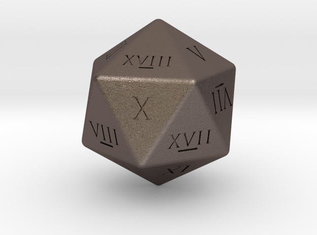 D20 - Roman Numerals in Stainless Steel
